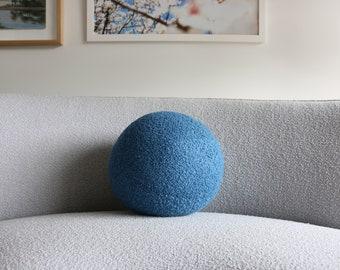 Ball cushion - blue boucle