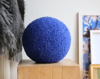 Ball cushion - cobalt boucle