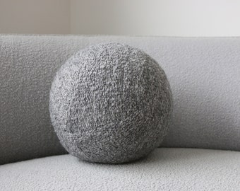 Ball cushion - gray grey boucle