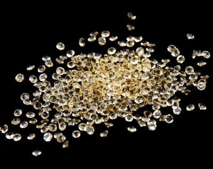 MajorCrafts® 1400pcs 1.1mm Jonquil Yellow Micro Cubic Zirconia Glass Cut Rhinestones C11