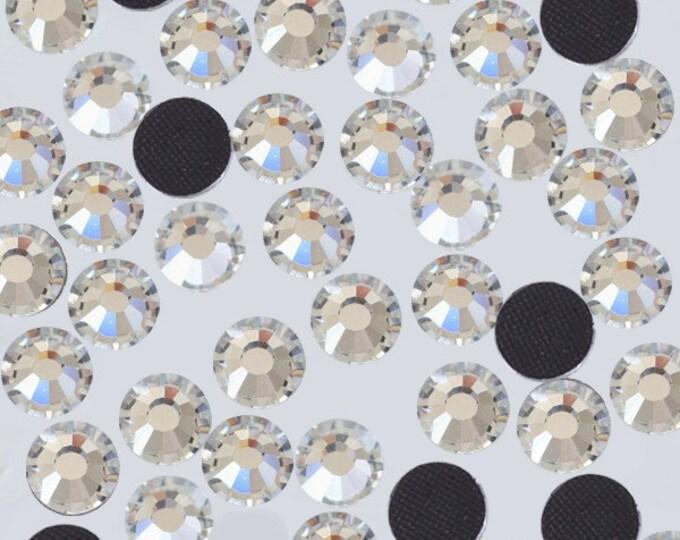 Crystal Clear Flat Back DMC A+ Quality Glass Cut Hotfix Diamante Rhinestones C1