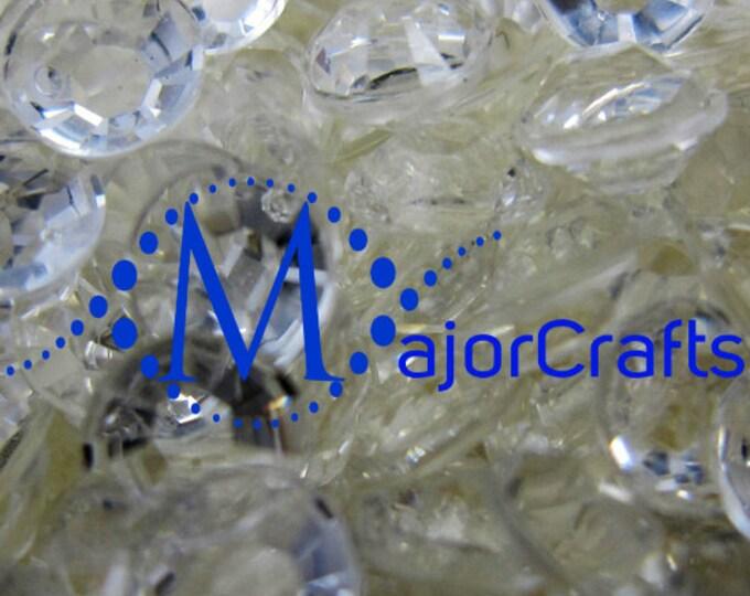 Transparent Clear Flat Back Round Resin Rhinestones Embellishment Gems C1