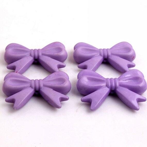 MajorCrafts® 4pcs Light Purple 46*36mm Large Chunky Acrylic Embellishment Bows C17