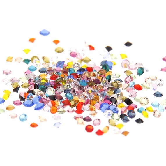 MajorCrafts® 1400pcs 1.1mm Mixed Colours Micro Cubic Zirconia Glass Cut Rhinestones C00