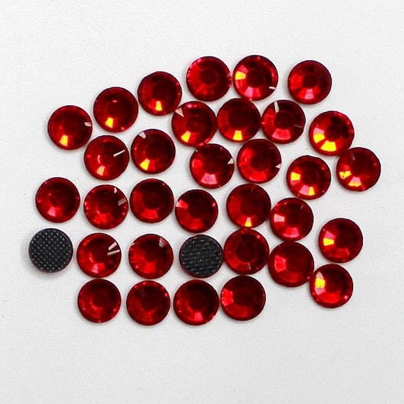 Red Siam Flat Back DMC A+ Quality Glass Cut Hotfix Diamante Rhinestones C22