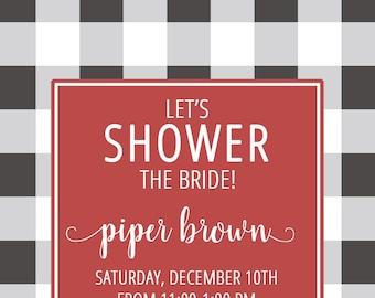 Bridal Shower {Buffalo Checkered}