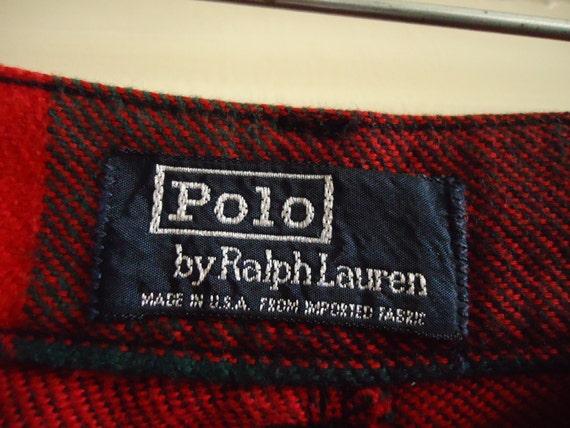 Vintage 80s/90s POLO By Ralph Lauren Plaid Shorts… - image 2