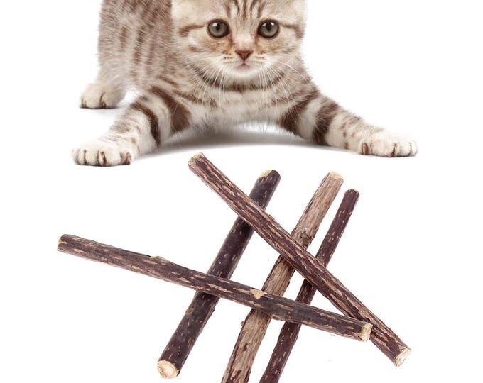 Featured listing image: Catnip Alternative | Silver Vine | Set of 5 Sticks | Cat Chew | Matatabi  | Cat Mood Enhancement  | Options to Catnip  | Kitty Fun
