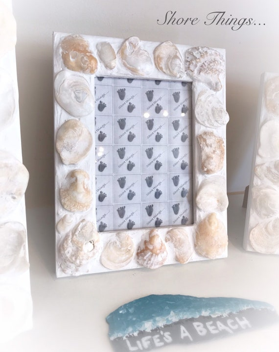 sea theme decor Oyster shell picture frame