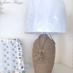 Lampada Di Corda Piccola Lampada Da Tavolo Nautica Con Ombra Etsy