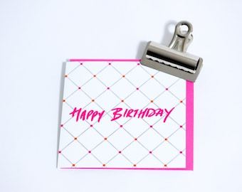 Happy Birthday - Luxury Greetings Card - By Pearl of a Girl Designs
