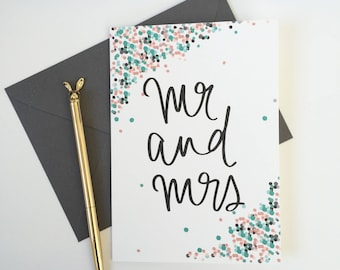 Mr and Mrs - Wedding Card