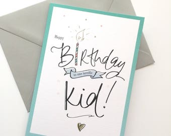 Happy Birthday to one terrific Kid - Children's birthday Card