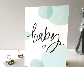 New Baby - Baby Pregnancy News - Greeting Card -