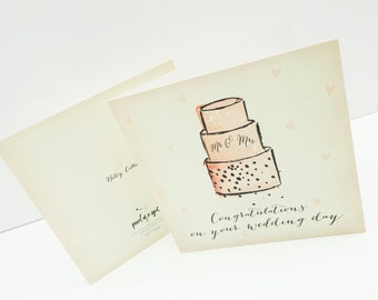 Congratulations on your Wedding Day - Betty Collection Greetings Card