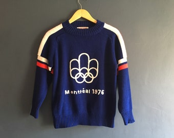 Rare Olympics Montreal 1976 Knitted vintage Sweater S-M