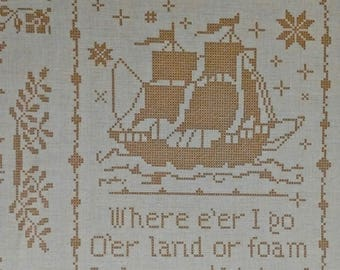 Tall Ships Quilting Fabric 3 2/3 yd by 44 inches