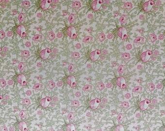 Pink Rosebud Print Fabric (Paris Flea Market by Moda) 3 yards x 44 inches