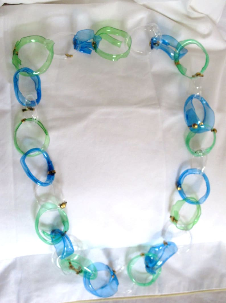 recycled plastic necklace