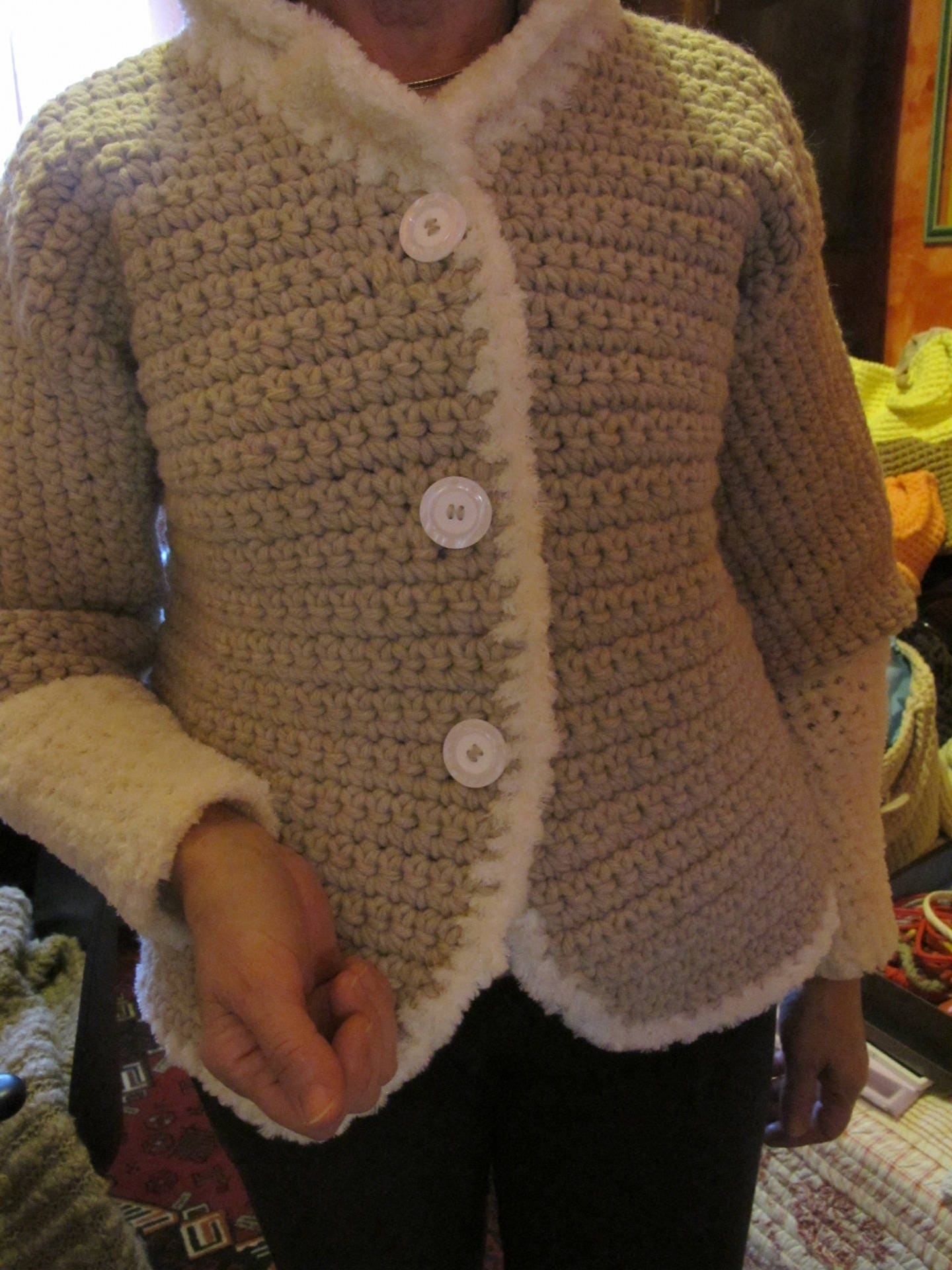 Giacca Giacca Lana In Lana All'uncinetto In Etsy All'uncinetto Etsy 5WqqnZRxS