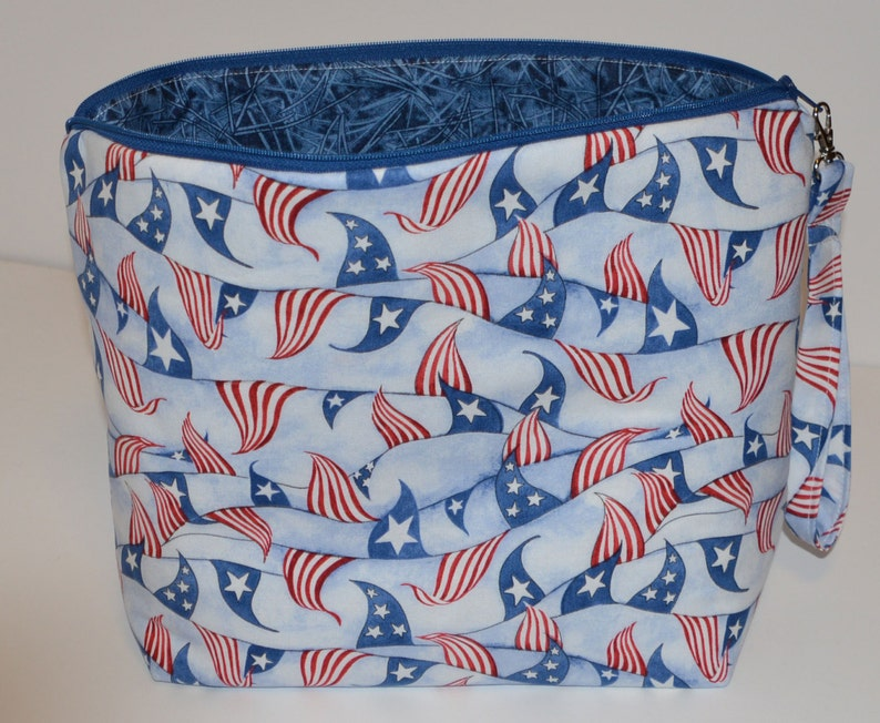 Flags Red White and Blue project bag