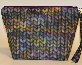 Designer Knit Purl 4 print project bag