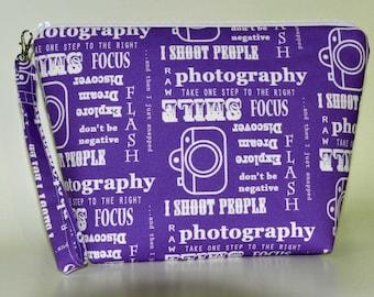 Designer Photography Words project bag