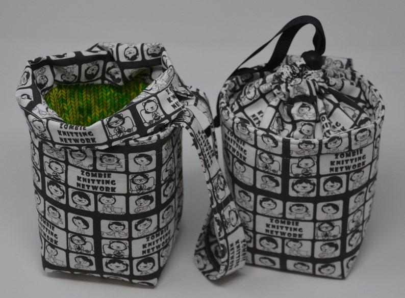 Zombie Knitting Network ZKN  adventure walk draw project bag image 0