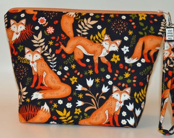 Fox in the forest project bag
