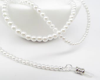 535be883db81 Pure white pearl eyeglasses chain