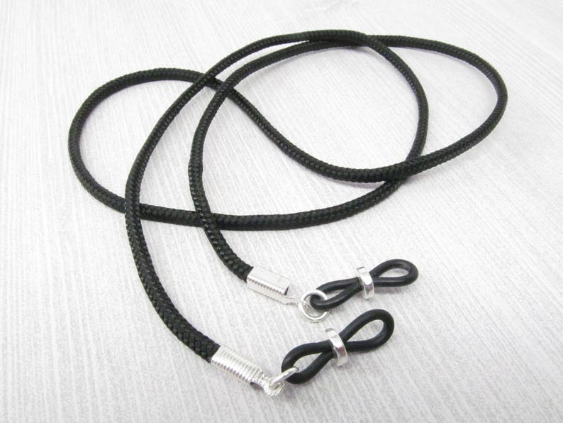 f1d664b498a Simple Black Cord Eyeglasses Chain for men or women glasses