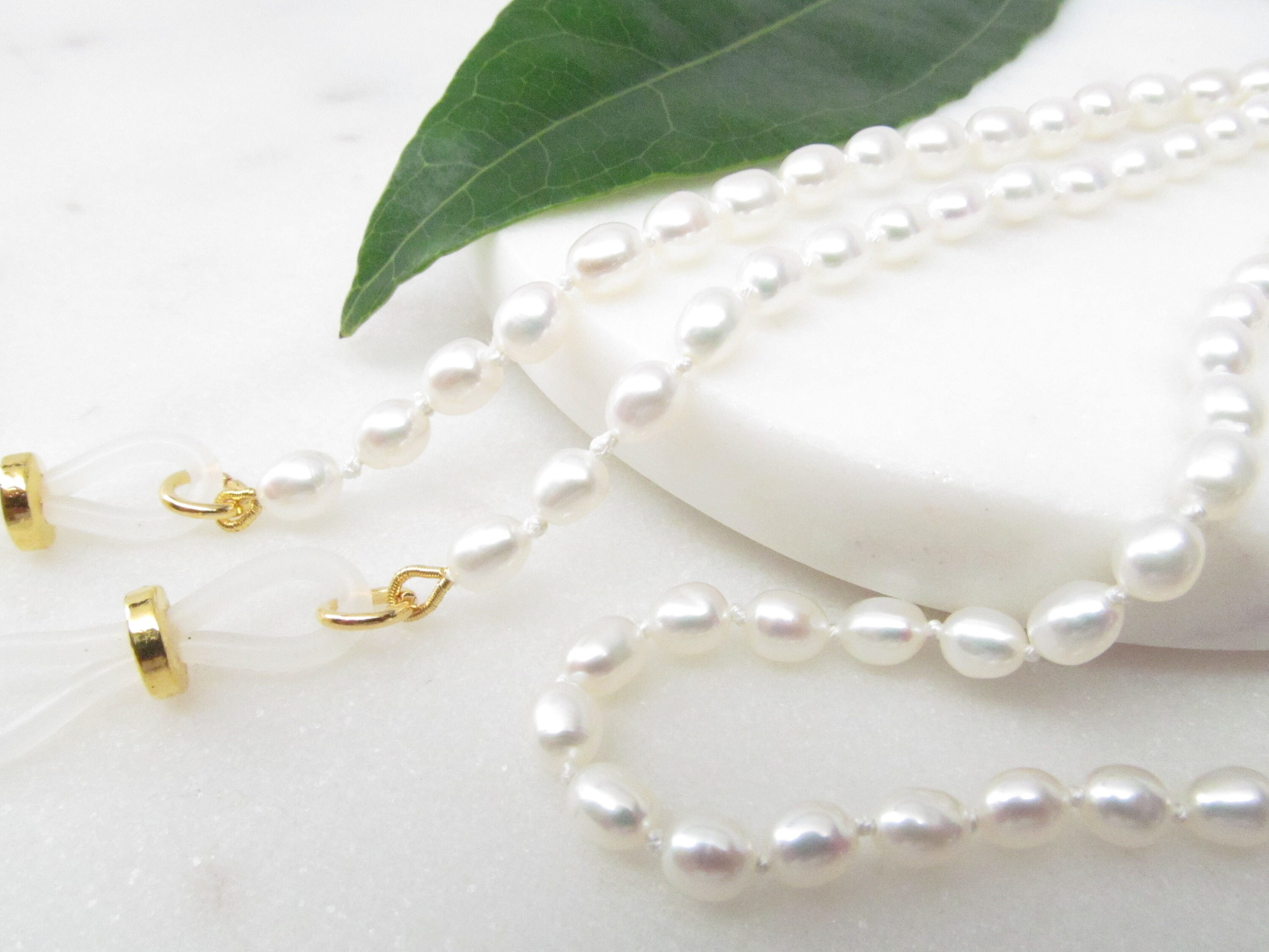 3a8618595083 Creamy White Freshwater Pearl Eyeglass Chain Glasses Necklace