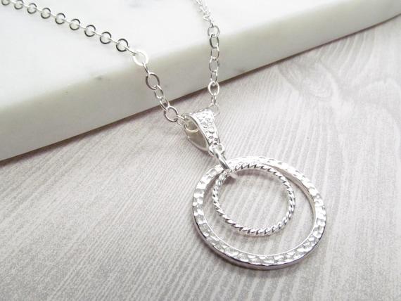 34b78428e42d Circle within circle silver chain eyeglass loop lanyard