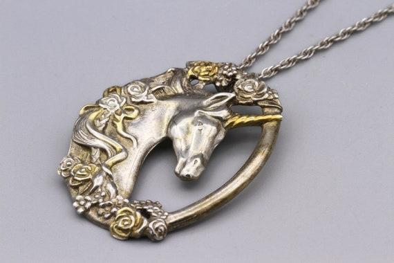 Magic Unicorn Pendant Necklace, Gorham Sterling T… - image 5