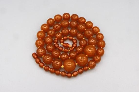 Extra Large Honey Amber Graduated Mod Necklace, R… - image 2