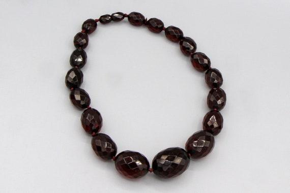 Art Deco Cherry Amber Bakelite Necklace, Vintage … - image 4