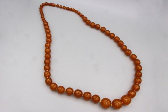 Extra Large Honey Amber Graduated Mod Necklace, R… - image 3