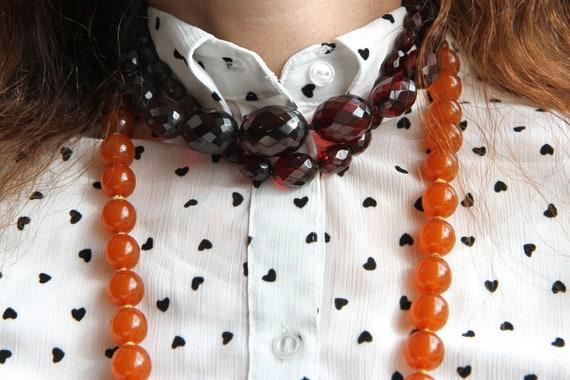 Art Deco Cherry Amber Bakelite Necklace, Vintage … - image 6