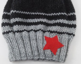 Knitting PATTERN ONLY - Winter Soldier Slouchy Beanie