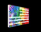 rainbow flag canvas galle...