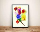 watercolor painting art p...
