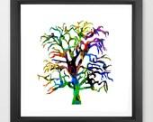 tree art print / nature i...