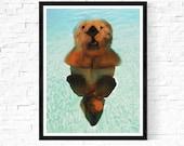 otter print / endangered ...
