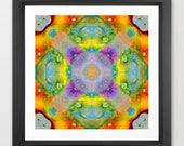 kaleidoscope art print / ...