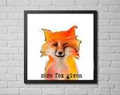fox art print / funny wal...