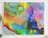 psychedelic art canvas ga...