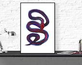 snake art print / animal ...