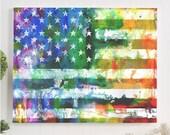 gay pride flag canvas gal...