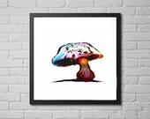 mushroom art print /  nat...