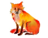 fox art print / animal na...